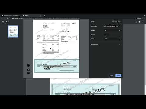 How to Print Pay Stubs Online