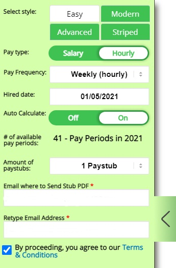 Paystub slider intro - choose your design